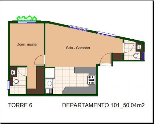 Departamento vanguardista de 50m2 en el Conjunto Residencial Florencia