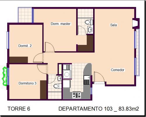 Vive con clase en un departamento de 3 dormitorios  en el Conjunto Residencial Florencia