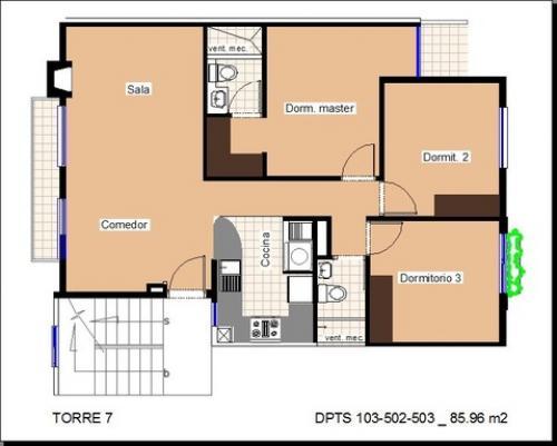 Exclusivo departamento de 3 dormitorios en el Conjunto Residencial Florencia