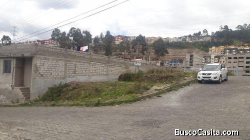 VENDO TERRENO ESQUINERO COMERCIAL, SUR DE QUITO, (Entre barrio Caupicho y Ciudad Jardin)