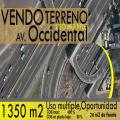 TERRENO DE VENTA AV OCCIDENTAL 1350 M2  VIA PRINCIPAL CEL.- 0985813087
