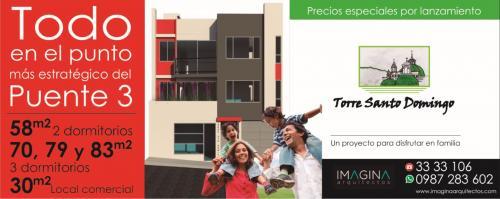 Departamentos Nuevos de 2 y 3 dormitorios, a 250m Autopista General Rumiñahui Puente 3, financiamiento.