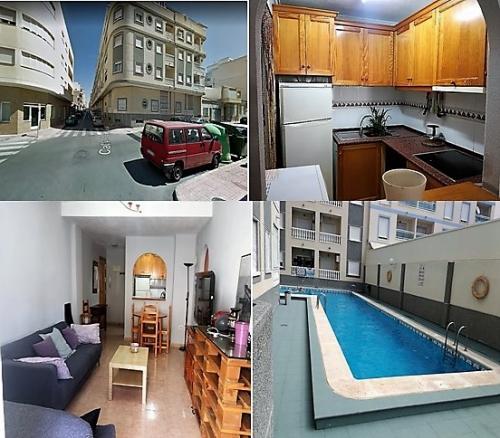 Piso 3 dormitorios con piscina amueblado Torrevieja
