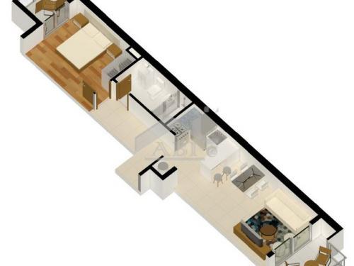 A ESTRENAR: Un dormitorio con dos balcones en Barrio Sur - AP 338 C