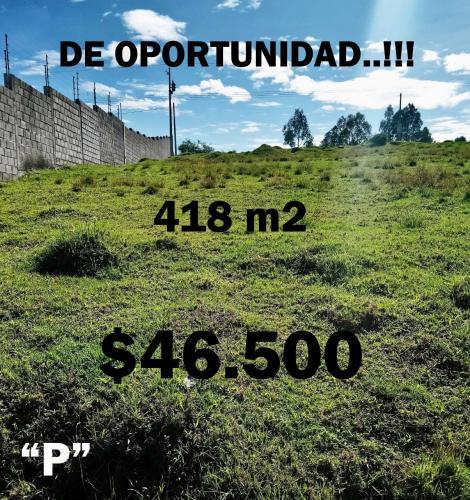 HERMOSO TERRENO EN EL VALLE DE LOS CHILLOS, A 5 MINUTOS DEL COLIBRÍ EN 46.500 NEGOCIABLES