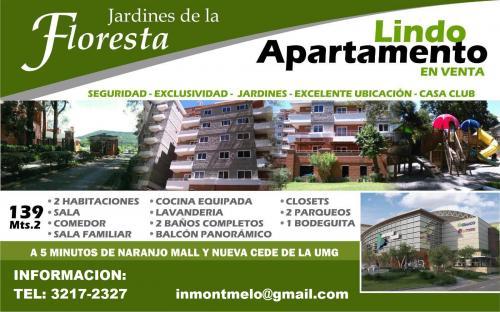 Lindo Apartamento Jardines de La Floresta, excelente ubicacion, Periferico, Condado Naranjo!!