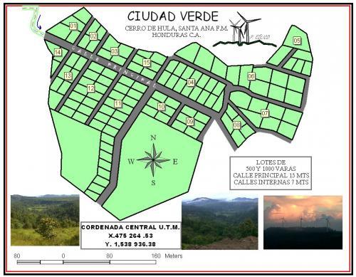 LOTES DE TIERRA A LA VENTA, PROYECTO CIUDAD VERDE: