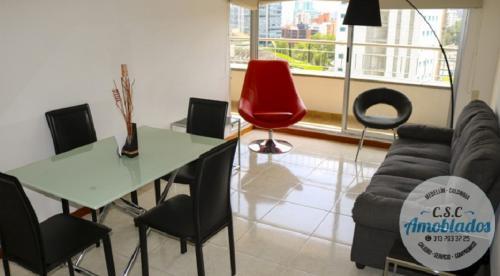 Alquiler de Apartamentos Amoblados en Medellín  código. AP54 ( El Poblado)