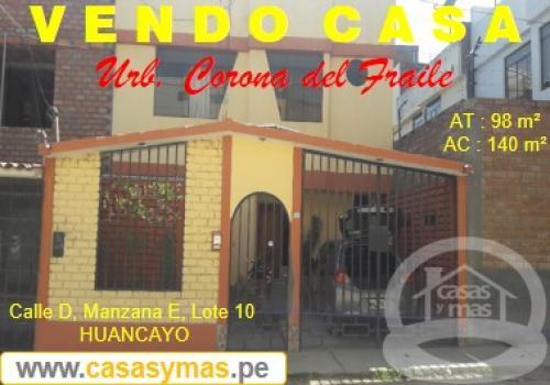 Vendo Casa en urb. residencial planicie del fraile- Huancayo