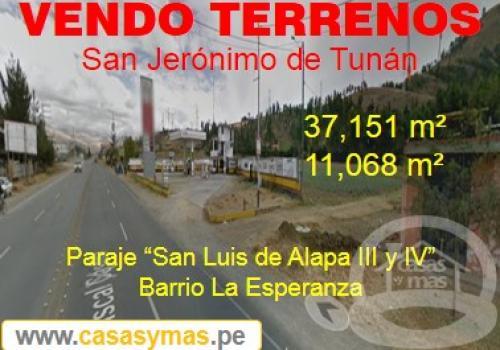 TERRRENOS EN VENTA SAN JERONIMO DE TUNAN- HUANCAYO
