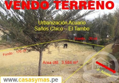 TERRENO EN VENTA EN SAÑOS CHICO-HUANCAYO
